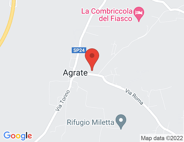 Carte de Google maps avec la position de la commune